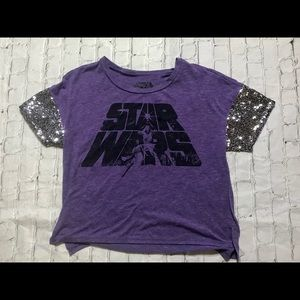 Small purple sequin Star Wars tshirt